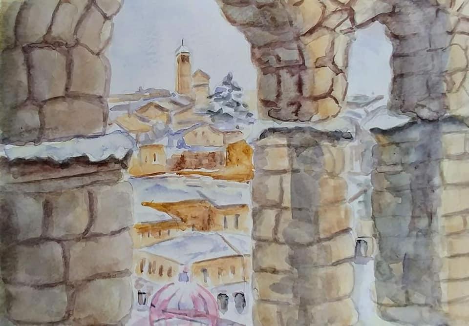 Nieva en Segovia