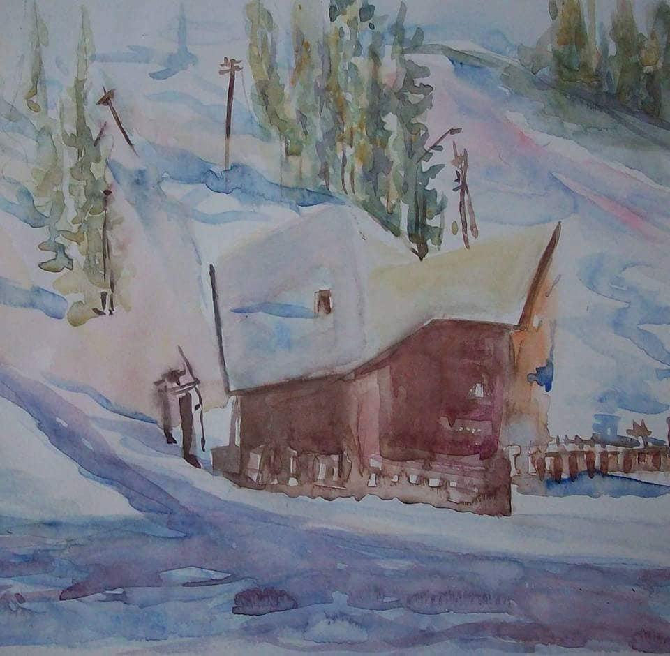 cabaña nevada