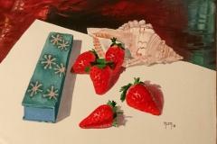 caracola y fresas