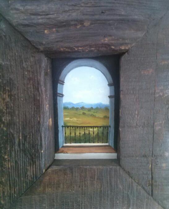 A través de la ventana