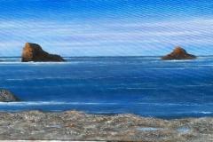 Islotes en la playa