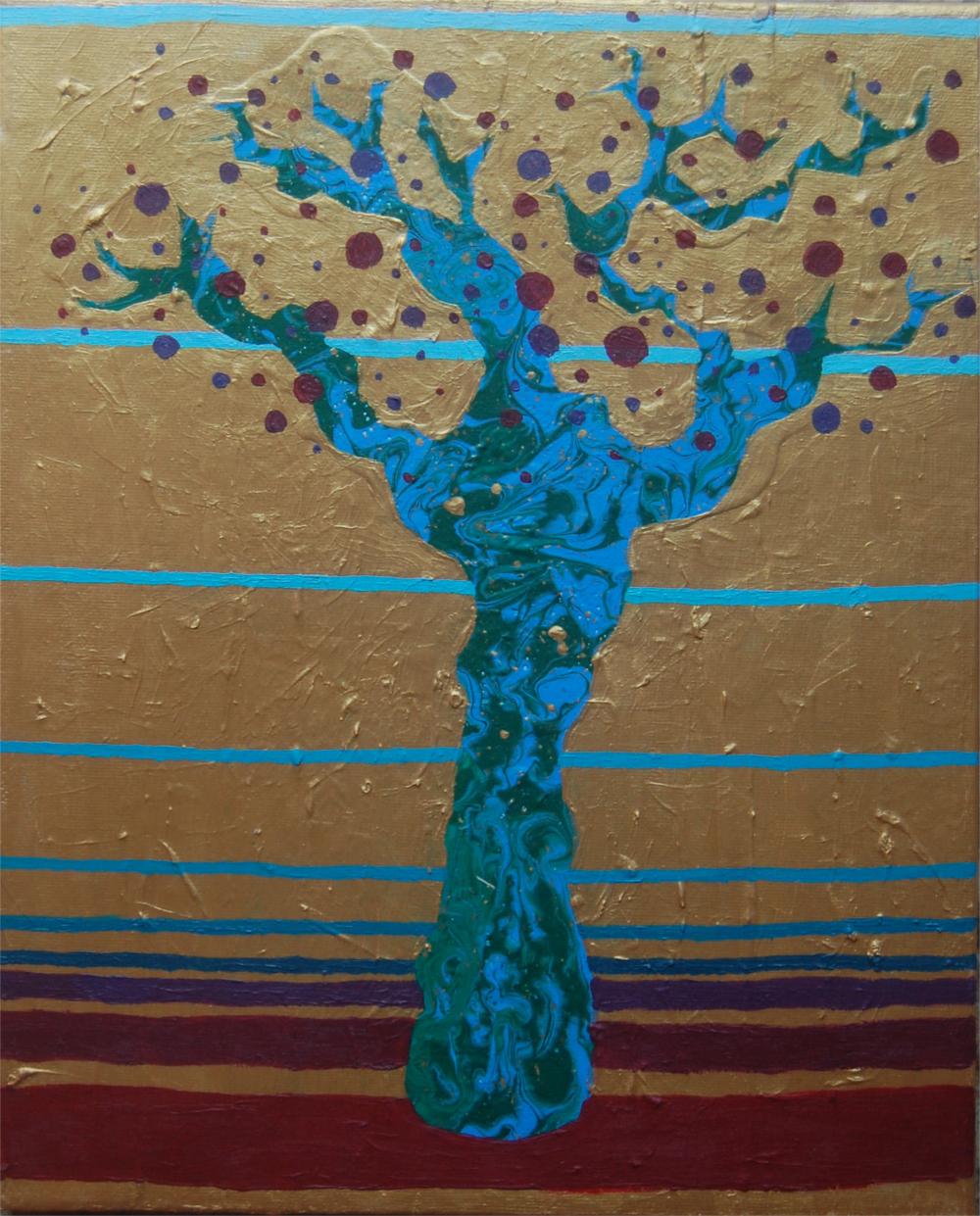 paisajes V. acílico sobre lienzo
