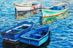 Barcas azules